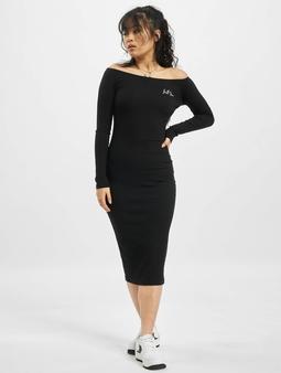 Sixth June Ribbed Long Sleeves Dress Black