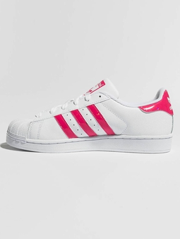 Adidas Superstar J Sneakers Ftwr Whit/Real Pink/Ftwr