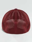 Flexfit Mesh Colored Front Snapback Cap Maroon/White image number 1