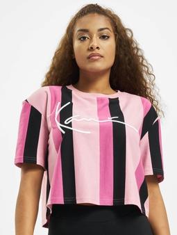 Karl Kani Kk Signature Stripe  T-skjorter rosa