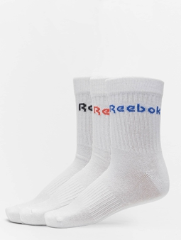 Reebok Act Core Mid Crew Socks White/Dynamic Red/White/Court Blue