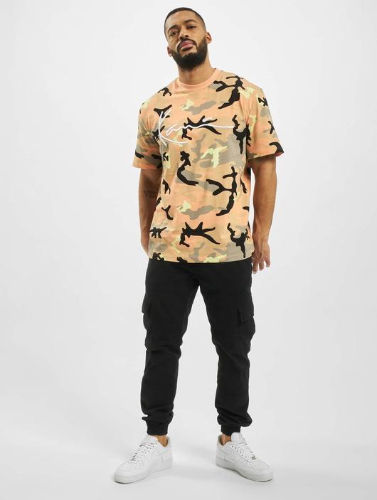 Karl Kani Signature Camo T-Shirt Camel/Black/Coral/Yellow image number 4