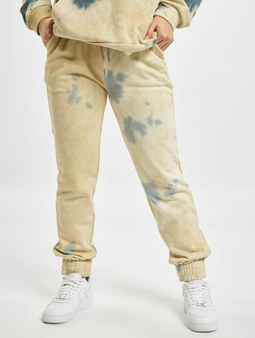 Sixth June Tie Dye Sweat Pants Beige
