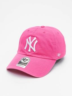 '47 Yankees Clean Up Snapback Cap Magenta