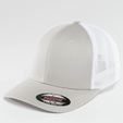Flexfit Mesh Cotton Twill Trucker Two Tone Cap Buck/White