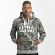 Alpha Industries Foam Print Hoody Grey Heather