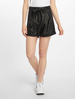 Missguided Faux Leather Belted Shorts