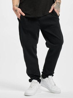 Urban Classics Formula Cropped Peached Interlock Joggebukser svart