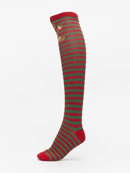 Urban Classics Christmas Overknees Socks Red/Green
