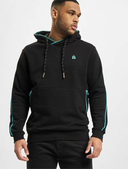 Just Rhyse Five Ponds Hoody Black Turquoise