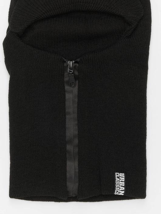 Urban Classics Zipped Visor Beanie Black image number 1