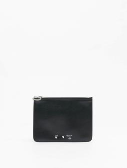 Off-White OW Logo Flat Pouch Bags svart