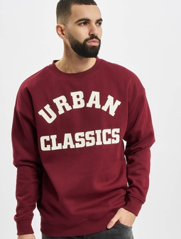 Urban Classics College Print Crew Longsleeve
