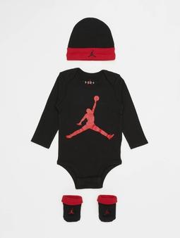 Jordan L/S Jumpman Hat/Bodysuit/Bootie Set 3 Pieces Pink Foam