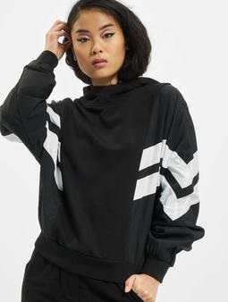 Urban Classics Ladies Mix Crinkle Nylon Sweat Hoody