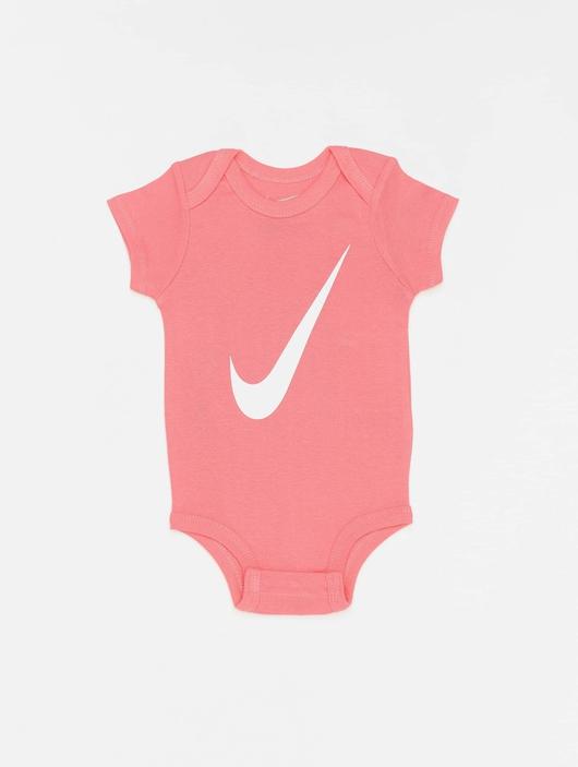 Nike Swoosh S/S Bodysuit 3 Pack Pink Nebula image number 1