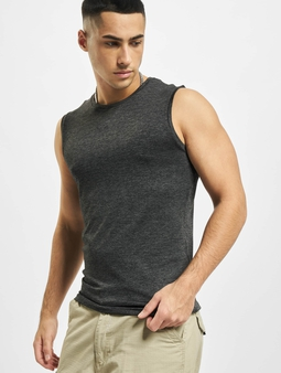 Urban Classics Active Melange Tank Top Charcoal/Black