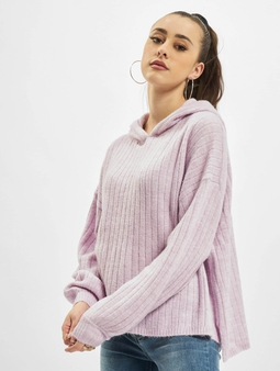 Only onlCorinne Loose Knit Hoody Orchid Bloom/W.