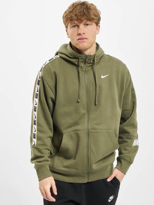Nike Repeat Fleece Full Zip Hoodie Black/Reflective Silvern image number 0
