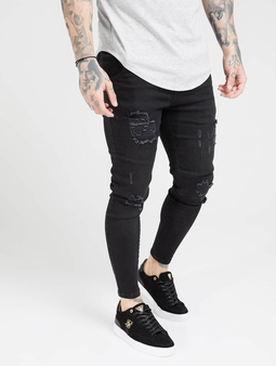 Sik Silk Distresed Skinny Jeans