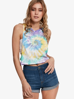 Urban Classics Ladies Short Tie Dye Loose Tank Top Pastel