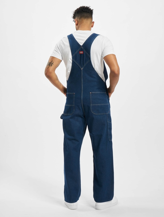 Dickies Bib Overall Pants Washed Indigo (W 42  L 32 blue) image number 1