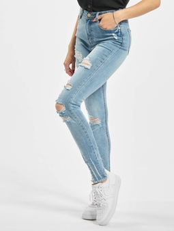 Missguided Authentic Rip Wash Skinny High Waist Jeans
