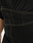 Missguided Corset Waist Denim Black Skirt Black image number 3