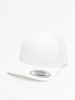 Flexfit Retro Trucker Cap White (Adjustable white)