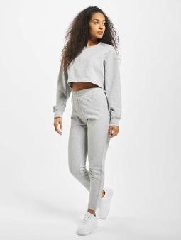 Missguided Zip Crop Sweat And Slim Line Pants