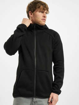Urban Classics Knit Fleece Zip Hoody Charcoal