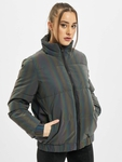 Urban Classics Ladies Iridescent Reflectiv Puffer Jacket Rainbow Darksilver image number 2