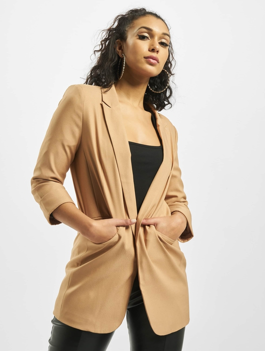 Missguided Co Ord Price Point Basic Blazer Camel image number 0