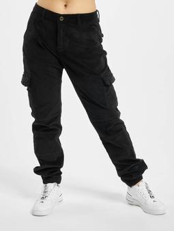 Urban Classics Ladies High Waist Cargo Corduroy Pants