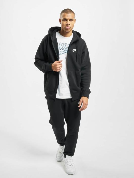 Nike Club Hoodie Full Zip Black/Black/White image number 4