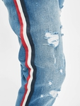 VSCT Clubwear Keanu Multi Colour Stripe Slim Fit Jeans Midblue image number 5