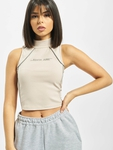 Sixth June Reflective Piping Crop Top Beige image number 2