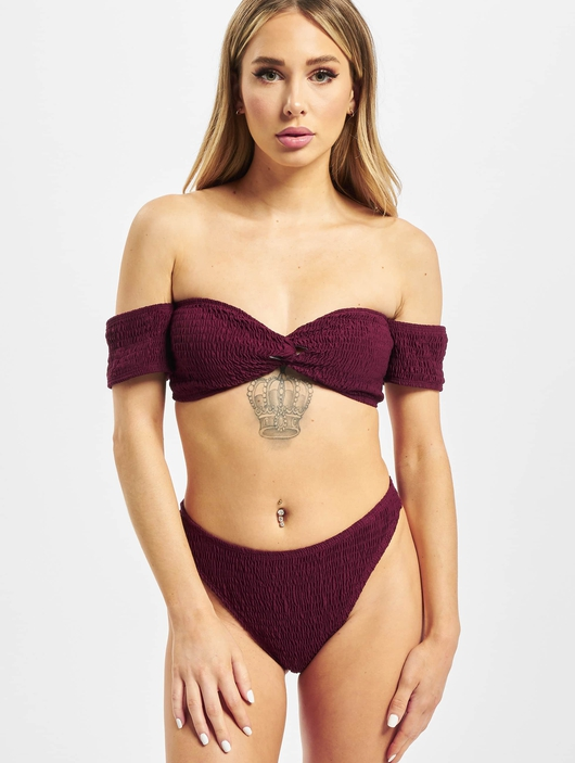 Missguided Crinkle Milkmaid And Bottoms Bikinis image number 2