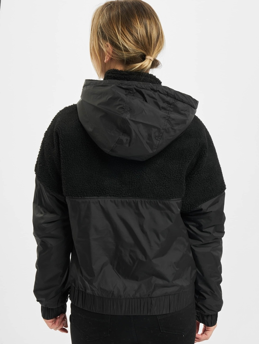 Urban Classics Ladies Sherpa Mix Pull Over Winter Jackets image number 1
