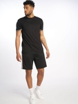 Urban Classics Side Taped Track Shorts Black/Grey image number 5