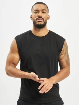 Urban Classics Open Edge Sleeveless T-Shirt Black
