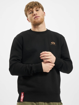 Alpha Industries Basic Small Logo Foil Print Sweatshirt Black/Golden