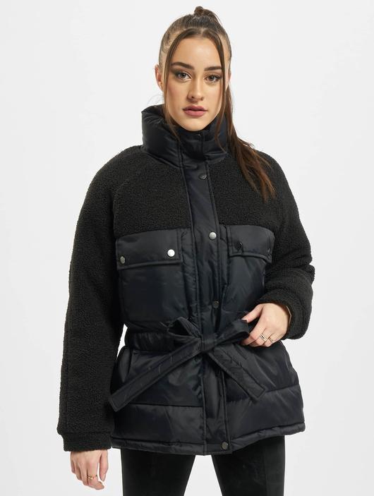 Urban Classics Ladies Sherpa Mix  Puffer Jackets image number 2