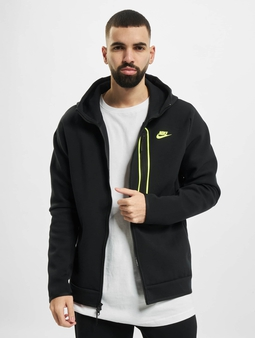 Nike M Nsw Tch Flc Fz Am Zip Hoody Black/Volt