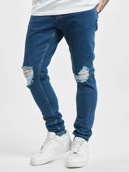 2Y Burbank  Slim Fit Jeans blå