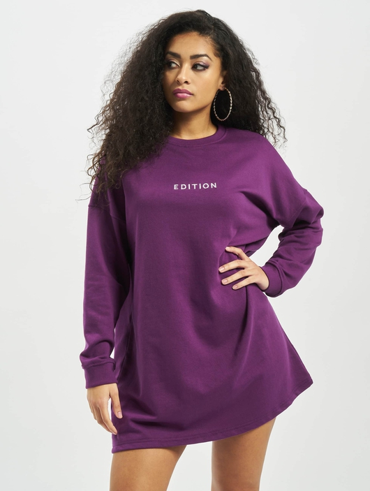 Missguided Oversized Sweater Edition Longsleeve Dress Purple image number 2