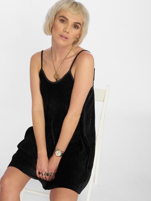 Urban Classics Velvet Slip Dress Beige image number 0