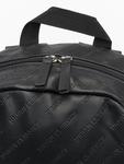 Urban Classics Imitation Leather Backpack Black image number 4