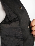 Urban Classics Oldschool College Jacket Charcoal/White (M gr image number 3