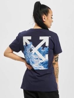 Off-White Skeleton Casual T-skjorter blå